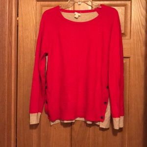 J Crew woman's soft sweater two tone